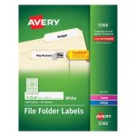 Avery Permanent Self-Adhesive Laser/Inkjet File Folder Labels, 1500/BX (AVE5366)
