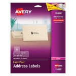 Avery Easy Peel Laser Mailing Labels, 1 x 2-5/8, Clear, 300/Pack (AVE15660)