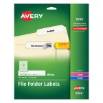 Avery Permanent Adhesive Laser/Inkjet File Folder Labels, 750 per Pack (AVE8366)