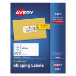 "Avery 8463 White Shipping Labels, 2"" x 4"", 1,000 Labels (AVE8463)"