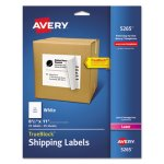 Avery Shipping Labels with TrueBlock Technology, White, 25 per Pack (AVE5265)