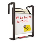 quartet-hanging-file-pocket-w-dry-erase-letter-3-pocket-black-silver-qrtofd