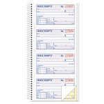 Money/Rent Receipt Spiral Book, 2-Part Carbonless, 200 Sets (TOP4161)