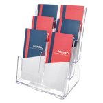 Deflect-o Compartment DocuHolder, 6 Compartments, Clear (DEF77401)