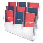 deflect-o-three-tier-document-organizer-w-dividers-clear-def47631