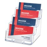 Four-Pocket Countertop Business Card Holder, Clear (DEF70841)