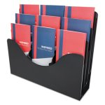 Deflect-o Three-Tier Document Organizer w/Dividers, Black (DEF47634)