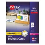 Avery Clean Edge Laser Business Cards, White, 10/Sheet, 2000 per Box (AVE5870)