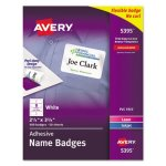 Avery Self-Adhesive Name Badge Labels, White, 400 Labels (AVE5395)