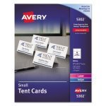 Avery Tent Cards, White, 2 x 3 1/2, 4 Cards/Sheet, 160 Cards/Box (AVE5302)