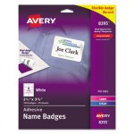 Avery Self-Adhesive Name Badge Labels, White, 160 Labels (AVE8395)