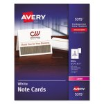Avery Printer Compatible Cards, Two per Sheet, 60/Box with Envelopes (AVE5315)