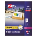Avery Clean Edge Laser Business Cards, 2 x 3 1/2, Wht, 10/Sht, 400/Bx (AVE5877)