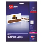 Avery Laser Business Cards, 2 x 3 1/2, White, 10 Cards/Sheet, 250/Pack (AVE5371)