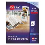 Avery Brochure Paper, Matte, 8-1/2 x 11, White, 100 Sheets/Box (AVE8324)