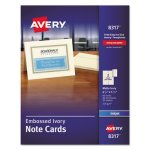 Avery Printable Cards, 4-1/4 x 5-1/2, Ivory, 60 Cards with Envelopes (AVE8317)