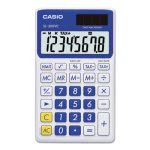 Casio SL-300SVCBE Handheld Calculator, 8-Digit LCD, Blue (CSOSL300VCBE)