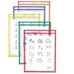 c-line-reusable-dry-erase-pockets-9-x-12-10-assorted-colors-pack-cli40610