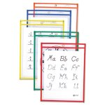 c-line-reusable-dry-erase-pockets-9-x-12-25-assorted-colors-box-cli40620
