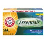 Arm & Hammer Essentials Dryer Sheets, Mountain Rain, 6 Boxes (CDC3320000102)