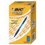Bic Soft Feel Ballpoint Retractable Pen, Blue, Medium, 36 Pens (BICSCSM361BE)