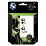 hp-65-t0a36an-2-pack-black-tri-color-original-ink-cartridges-hewt0a36an