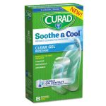 curad-soothe-cool-clear-gel-bandages-assorted-clear-8-box-miicur5236
