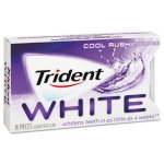 Trident White Sugarless Gum, Cool Rush Flavor, 12 Packs (CDB6763800)