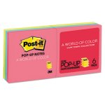 Post-it Pop-up Notes Refill, 3 x 3, Assorted Cape Town Color, 6 Pads (MMMR330AN)