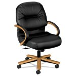 hon-2190-pillow-soft-wood-series-mid-back-chair-harvestblack-leather-hon2192csr11