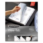 Wilson Jones View-Tab Transparent Index Dividers, 5-Tab, 5 Dividers (WLJ55066)