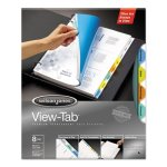 Wilson Jones View-Tab Transparent Index Dividers, Round, 8 Dividers (WLJ55063)