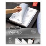 Wilson Jones Transparent Index Dividers, 8-Tab, Square, 8 per Set (WLJ55068)