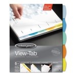 Wilson Jones View-Tab Index Dividers, 5-Tab, Square, Letter, 5/Set (WLJ55964)
