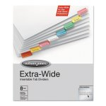 Wilson Jones Oversized Reinforced Insertable Index, Multicolor, 8-Tab (WLJ55208)