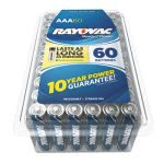 Rayovac Alkaline Battery, AAA, 1.5 Volt, 60 Batteries (RAY82460PPK)