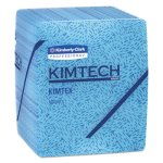 Kimtech 33560 Industrial Prep Quarterfold Wipers, Blue, 8 Boxes (KCC33560)