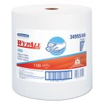 Wypall X60 Jumbo Roll Wipers, White, 1100 Towels/Roll (KCC34955)