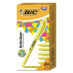 bic-brite-liner-highlighter-chisel-tip-yellow-ink-24-per-pack-bicbl241yw