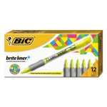 bic-brite-liner-highlighter-chisel-tip-fluorescent-yellow-ink-bicb411yw