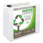 "Samsill Earth's Choice Biodegradable 5"" Ring View Binder, White (SAM18907)"