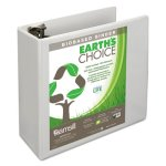 "Samsill Earth's Choice Biodegradable Binder, 4"" Capacity, White (SAM18997)"