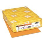 Astrobrights Colored Card Stock, 65 lb., Orange, 250 Sheets (WAU22851)