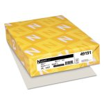 Neenah Exact Index Card Stock, 90 lb., 8-1/2 x 11, Gray, 250 Sheets (WAU49191)