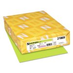 Neenah Colored Card Stock, 65-lbs., Vulcan Green, 250 Sheets (WAU21869)