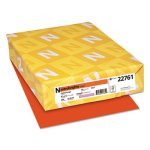 Astrobrights Colored Card Stock, 8-1/2 x 11, Orbit Orange, 250 Sheets (WAU22761)