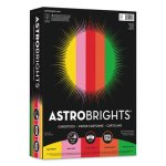 Astrobrights Colored Card Stock, 8-1/2 x 11, Assorted, 250 Sheets (WAU21003)