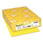 Astrobrights Colored Card Stock, 8-1/2 x 11, Lift-Off Lemon, 250 Sheets (WAU21021)