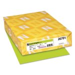 Neenah Paper Exact Brights Paper, Bright Green, 50 lb, 500 Sheets (WAU26791)