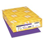 Astrobrights Colored Card Stock, 65 lb. 8-1/2 x 11, Grape, 250 Sheets (WAU21971)
